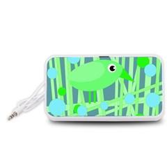 Green bird Portable Speaker (White)