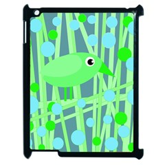 Green bird Apple iPad 2 Case (Black)