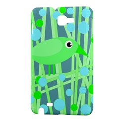 Green bird Samsung Galaxy Note 1 Hardshell Case