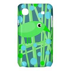 Green bird Samsung Galaxy SL i9003 Hardshell Case