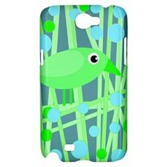 Green bird Samsung Galaxy Note 2 Hardshell Case