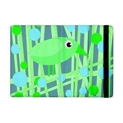 Green bird Apple iPad Mini Flip Case