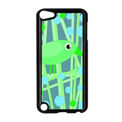 Green bird Apple iPod Touch 5 Case (Black)