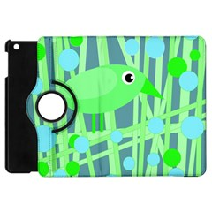 Green bird Apple iPad Mini Flip 360 Case