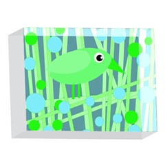 Green bird 5 x 7  Acrylic Photo Blocks
