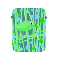 Green bird Apple iPad 2/3/4 Protective Soft Cases