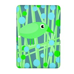 Green bird Samsung Galaxy Tab 2 (10.1 ) P5100 Hardshell Case