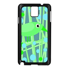 Green bird Samsung Galaxy Note 3 N9005 Case (Black)