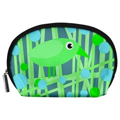 Green bird Accessory Pouches (Large)