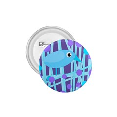 Blue and purple bird 1.75  Buttons
