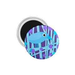 Blue and purple bird 1.75  Magnets