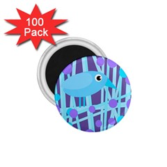 Blue and purple bird 1.75  Magnets (100 pack)