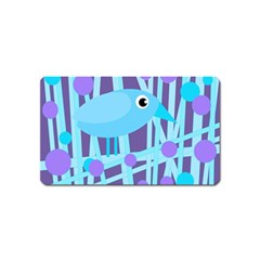 Blue and purple bird Magnet (Name Card)