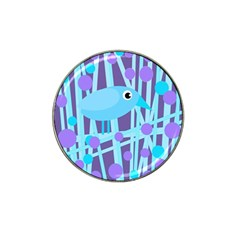 Blue and purple bird Hat Clip Ball Marker