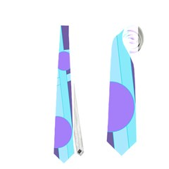 Blue and purple bird Neckties (Two Side)