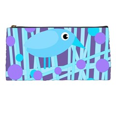 Blue and purple bird Pencil Cases