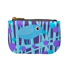 Blue and purple bird Mini Coin Purses