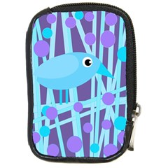 Blue and purple bird Compact Camera Cases