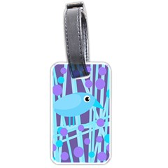Blue and purple bird Luggage Tags (One Side)