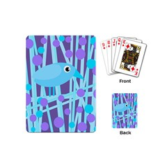 Blue and purple bird Playing Cards (Mini)