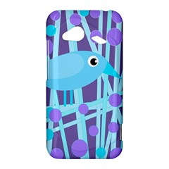 Blue and purple bird HTC Droid Incredible 4G LTE Hardshell Case