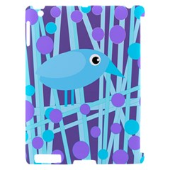 Blue and purple bird Apple iPad 2 Hardshell Case (Compatible with Smart Cover)