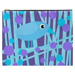 Blue and purple bird Cosmetic Bag (XXXL)