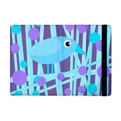 Blue and purple bird Apple iPad Mini Flip Case