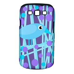 Blue and purple bird Samsung Galaxy S III Classic Hardshell Case (PC+Silicone)