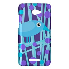 Blue and purple bird HTC Butterfly X920E Hardshell Case