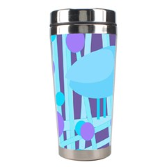 Blue and purple bird Stainless Steel Travel Tumblers
