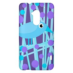 Blue and purple bird HTC One Max (T6) Hardshell Case