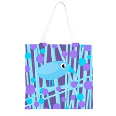 Blue and purple bird Grocery Light Tote Bag