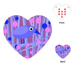 Purple and blue bird Playing Cards (Heart)