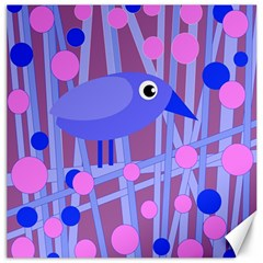 Purple and blue bird Canvas 20  x 20