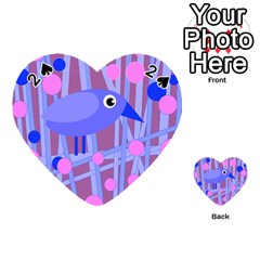 Purple and blue bird Playing Cards 54 (Heart)