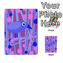 Purple and blue bird Multi-purpose Cards (Rectangle)