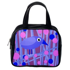 Purple and blue bird Classic Handbags (One Side)