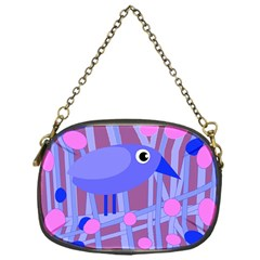 Purple and blue bird Chain Purses (One Side)