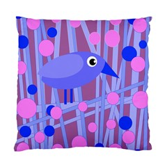 Purple and blue bird Standard Cushion Case (Two Sides)