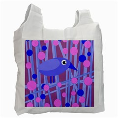 Purple and blue bird Recycle Bag (Two Side)