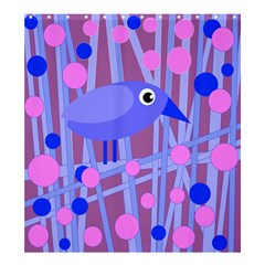 Purple and blue bird Shower Curtain 66  x 72  (Large)
