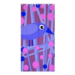 Purple and blue bird Shower Curtain 36  x 72  (Stall)