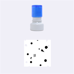 Purple and blue bird Rubber Round Stamps (Small)