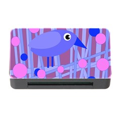 Purple and blue bird Memory Card Reader with CF
