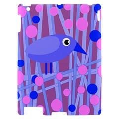 Purple and blue bird Apple iPad 2 Hardshell Case