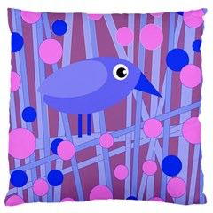 Purple and blue bird Large Cushion Case (One Side)
