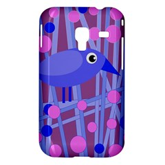 Purple and blue bird Samsung Galaxy Ace Plus S7500 Hardshell Case