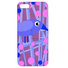 Purple and blue bird Apple iPhone 5 Hardshell Case with Stand
