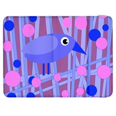 Purple and blue bird Samsung Galaxy Tab 7  P1000 Flip Case